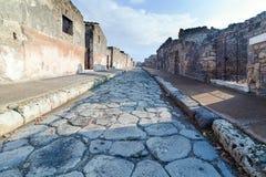 Rue dans des ruines de Pompéi, Italie photo libre de droits