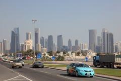 Rue dans Doha, Qatar Photos stock