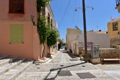Rue dans Ermoupoli Syros, Grèce photo stock