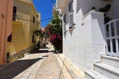 Rue dans Ermoupoli Syros, Grèce photo libre de droits