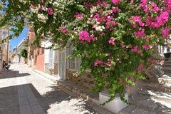 Rue dans Ermoupoli Syros, Grèce image stock