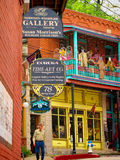Rue dans Eureka Springs, Arkansas Photos stock