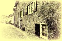 Rue dans Holland City d'Amersfoort Photos libres de droits