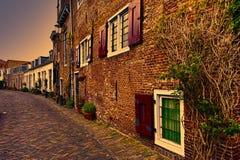 Rue dans Holland City d'Amersfoort Photos stock