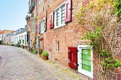 Rue dans Holland City d'Amersfoort Images libres de droits