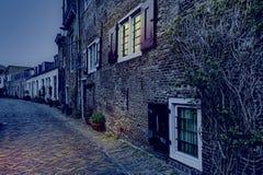 Rue dans Holland City d'Amersfoort Photographie stock libre de droits