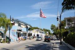 Rue dans Key West, la Floride Photos libres de droits