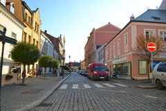 Rue dans Kutna-Hora, tchèque Images libres de droits