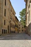 Rue dans la partie historique de la ville Photo libre de droits