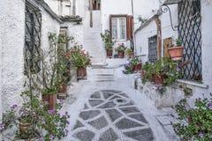 Rue dans la vieille ville d'Athènes en Grèce Photo stock