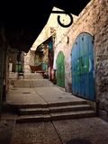 Rue dans la vieille ville, Jérusalem, Israël Photo stock