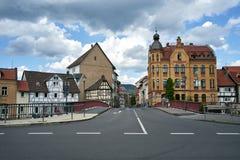 Rue dans la ville d'Eschwege, Allemagne Photos stock