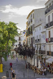 Rue dans la ville d'Ibiza, Espagne Photographie stock