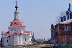 Rue dans la ville de Kolomna dans la région de Moscou Photographie stock