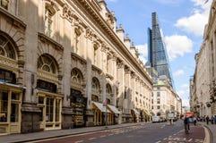 Rue dans la ville de Londres Images libres de droits