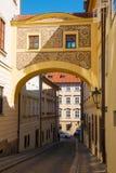 Rue dans la ville de Prague, République Tchèque photo libre de droits