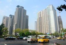 Rue dans la ville de Taichung, Taïwan images stock