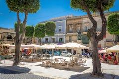 Rue dans la ville de Victoria à Malte Photos libres de droits