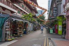 Rue dans le début de la matinée de Chinatown photo stock