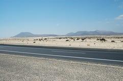 Rue dans le désert Photographie stock