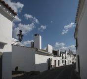 Rue dans le monsaraz, l'Alentejo, Portugal photographie stock