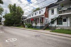 Rue dans le village de Canada Image stock