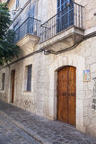 Rue dans le village de Valldemossa en Majorque Photos stock