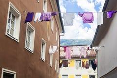 Rue dans Leinz, Autriche images stock