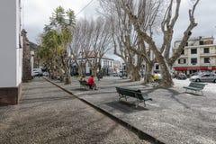 Rue dans Machico sur la Madère Photo libre de droits
