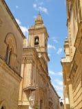 Rue dans Mdina, une vieille ville de Malte l'Europe Image stock