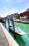 Rue dans Murano, Italie Images libres de droits