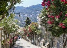 Rue dans Ravello, côte d'Amalfi, Italie Image stock