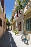 Rue dans Rethymno, Crète, Grèce Photos stock