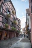 Rue dans Ribeauville Images libres de droits