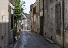 Rue dans Sancerre dans les Frances images libres de droits
