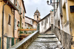 Rue dans Saorge Photo stock