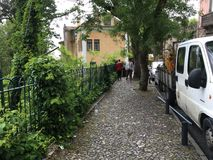 Rue dans Sintra, Portugal Images libres de droits