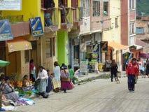 Rue dans Sorata Image libre de droits