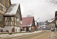 Rue dans Szklarska Poreba poland photographie stock