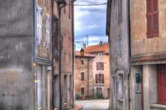 Rue dans Vernoux Images libres de droits