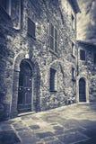 Rue de B&W de Montepulciano, Toscane Photo libre de droits