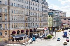 Rue de Balchug dans la ville de Moscou Image libre de droits