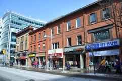 Rue de banque, Ottawa du centre, Canada photos stock
