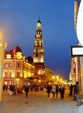 Rue de Baumana, Kazan Russie Photos stock