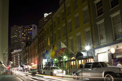 Rue de Bourbon la nuit Photo libre de droits