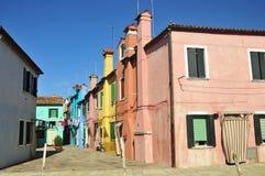 Rue de Burano Photographie stock libre de droits