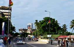 Rue de côte dans Dar photos stock