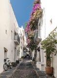 Rue de Cadaques Photo libre de droits