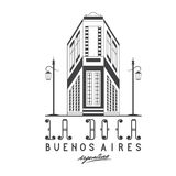 rue de Caminito d'illustration dans le voisinage de Boca de La de B Photo stock