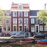 Rue de canal d'Amsterdam photographie stock libre de droits